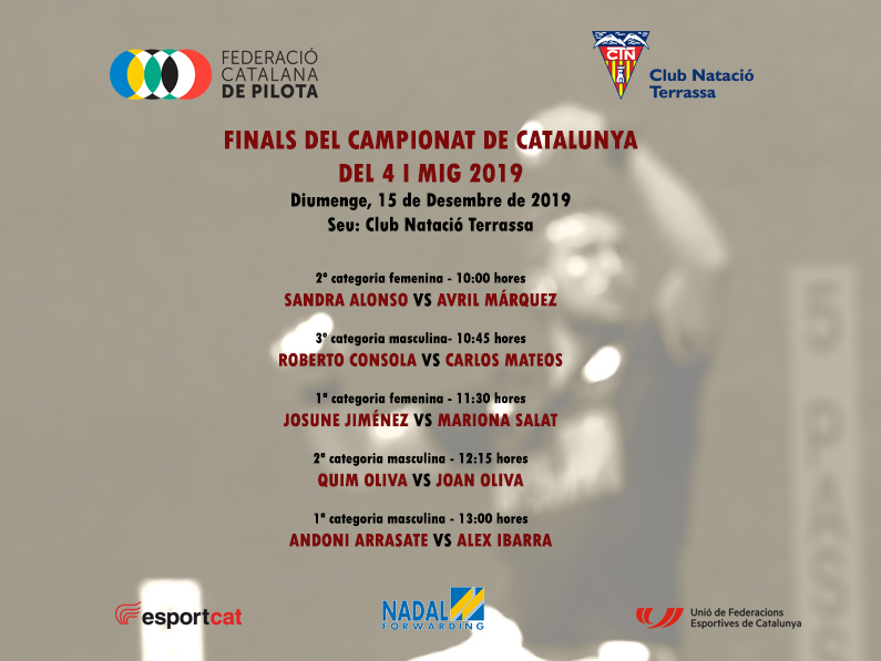El CN Terrassa acollirà les Finals del Campionat de Catalunya del 4 i mig 2019