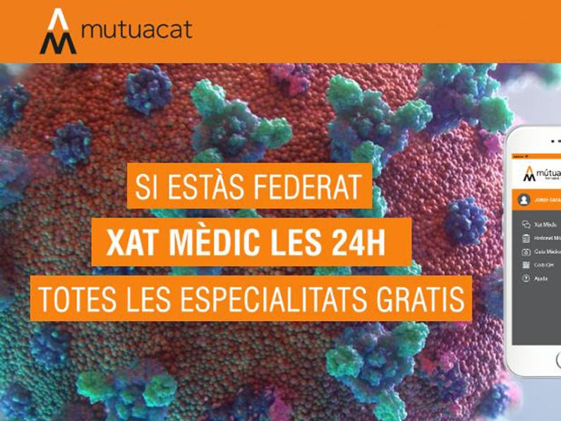Xat mèdic 24h gratuït per a federats i federades